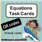 I created this set of Surfing through Equations QR Task Cards to reinforce basic algebra.  A surfer theme was used in order to be more appropriate ...