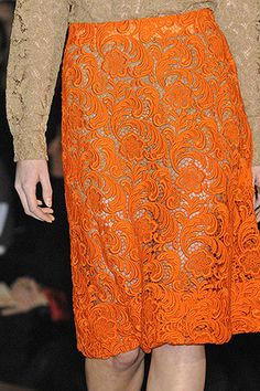 Orange Lace Skirt - Prada