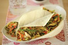Vegetable Moo Shu Wraps | Vegetarian Times