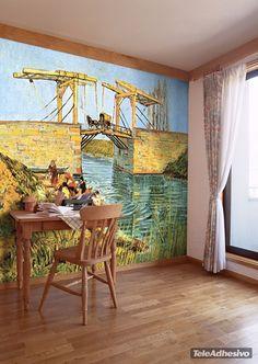 Fototapeten Die Langlois Brücke bei Arles_Van Gogh
