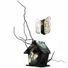#Moth + #Birdhouse by Caitlin Hackett