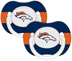 NFL Denver Broncos Baby Infant Pacifier Set of Two BPA Free