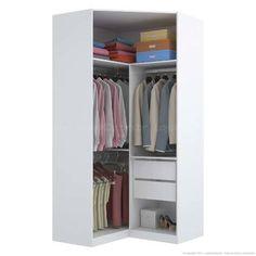 Guarda-roupa Modulado Canto Closet 2 Portas Harmony 100% MDP Branco - Urbe…                                                                                                                                                                                 Mais