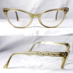 1950's 1960's Vintage Cat Eye Glasses L Evrard Frame by suzytodd