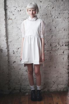 thewhitepepper:  Shop THE WHITEPEPPER Sleeveless Leather Angel Dress White in SALE! Don't miss out :) Visit us on Facebook