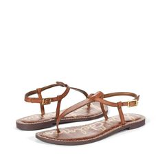 The ultimate Edelman Icon and a wardrobe must for every Sam's Girl, the 'Gigi' thong sandals will work with all of your warm-weather looks. Each pair is crafted with a signature croco sock for comfortable all-day-wear.Upper material: Leather/PatentLining material: Synthetic