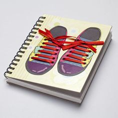 Present yourself this quirky shoe lace notebook and keep scribbling on the go.