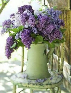 Lilacs. My favorite. Too bad it's such a short lived blooming season.