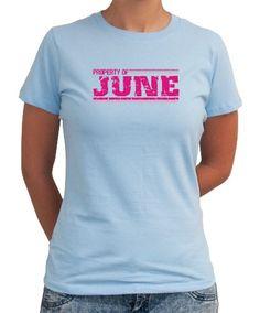 Property Of June - Vintage Women T-Shirt