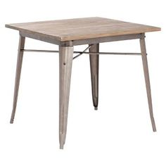 Titus Dining Table Wood/Rustic - Zuo