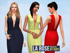 Un Sims au bout du fil. - La Rose, a dress for the Sims 4. There is already...