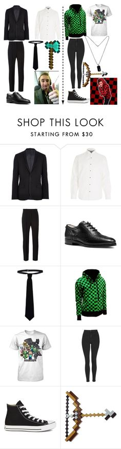 """""""JeromeASF and bajancanadian!"""" by weredragon360 ❤ liked on Polyvore featuring River Island, Givenchy, MICHAEL Michael Kors, RED Valentino, Topshop, Converse and David Yurman"""