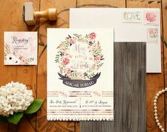 Bohemian Makrame wedding ideas invitations