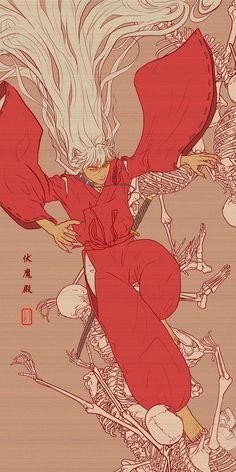 Pandemonium by on DeviantArt, Inuyasha looks incredible such a mature art style Manga Anime, Anime Art, Japon Illustration, Corpse Party, Anime Kunst, Animes Wallpapers, Aesthetic Anime, Iphone Wallpaper, Otaku
