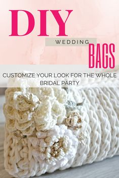 step-by-step crochet bag pattern perfect for a bridal bag or bridesmaid bag! It's a zip clutch with lining and flowers. Click to view on Ravelry