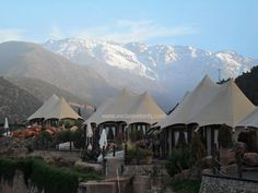 Exclusive Tents Richard Branson's Virgin Limited Kasbah Tamadot Resort in the High Atlas Mountains of Morocco