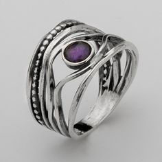 Hey, I found this really awesome Etsy listing at https://www.etsy.com/listing/168794506/dark-amethyst-ring-by-shablool-didae