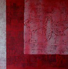 Inconscio primordiale. Tecnica mista su tela applicata su tavola, cm. 120x120