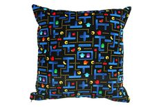 Pacman Cushion Cover Pacman Maze Cushion by BlossomvioletCrafts