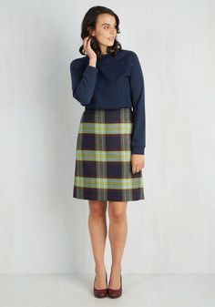 Classic is in Session Skirt in Navy | Mod Retro Vintage Skirts | ModCloth.com