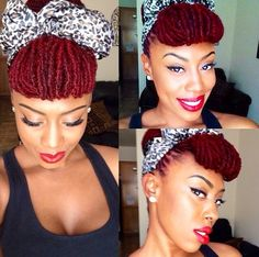 {Grow Lust Worthy Hair FASTER Naturally}        ========================== Go To:   www.HairTriggerr.com ==========================   Red Vintage Loc Updo