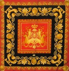 GIANNI VERSACE printed silk scarf