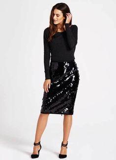 Elegant Stretchy High Waist Sequin Pencil Skirt 24 Easy Sytish Ways to Recreate Sequin Skirt Outfits Sequin Skirt Outfit, Black Sequin Skirt, Sequin Pencil Skirt, Pencil Skirt Outfits, Black Sequins, Dress Skirt, Waist Skirt, Pencil Dresses, Pencil Skirts