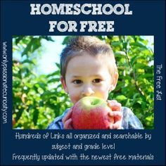 The biggest list of free homeschooling resources and curriculum links I have ever seen!