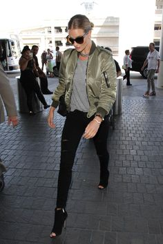 Rosie Huntington-Whiteley Photos: Rosie Huntington Whiteley and Jason Statham Spotted at LAX