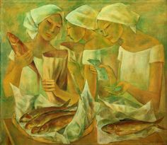 View Fish Vendors By Anita Magsaysay-Ho; Oil on canvas; Access more artwork lots and estimated & realized auction prices on MutualArt. Famous Modern Paintings, Arte Filipino, Philippines Culture, Famous Artists, Artist Painting, Asian Art, Oil On Canvas, Abstract Art, Artwork