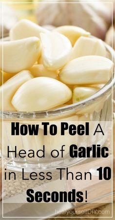 How to Peel a Head of Garlic in 10 Seconds!   www.healyourselfDIY.com