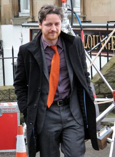 'Filth'  James McAvoy is seen on the set of the Irvine Welsh novel adaptation, 'Filth' on January 25, 2012 in Glasgow, UK.  (January 25, 2012 - Photo by FameFlynet Pictures)