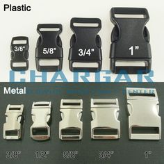 """Contoured 5/8"""" 3/4"""" 1"""" Side Release Buckles Clasps for Paracord Bracelets 1 5 10 #CHARGAR"""