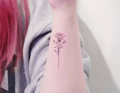 Rose and baby's breath by Handitrip