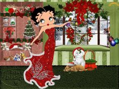 Image result for Betty boop purple christmas