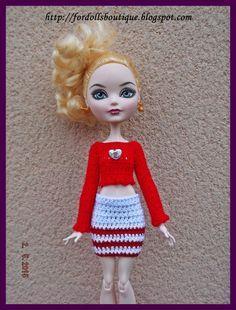 Ever After High & Monster High: conjunto de falda y jersey de Fordollsboutique en Etsy