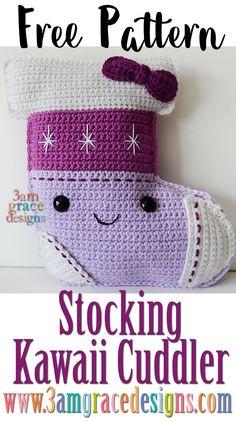 Christmas Stocking ragdoll amigurumi free crochet pattern