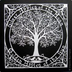Картина панно рисунок Вырезание Волшебная яблоня_Vegas Lammy Бумага фото 2