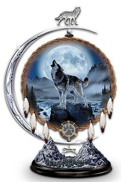 I would love an entire room decorated with wolves