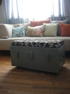 cushion on top of trunk makes for nice small bench