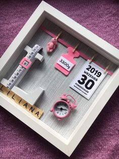 Baby Crafts, Diy And Crafts, Paper Crafts, Baby Frame, Baby Memories, Baby Party, Baby Decor, Creative Gifts, Future Baby