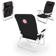 "Short Description: The Monaco Beach Chair is the lightweight, portable chair that provides comfortable seating on the go. It features a 34"" reclining seat back with a 19.5"" seat, and sits 11"" off the"