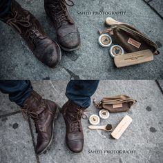 The before and after effect of using Armstrong's All Natural products on my boots is striking. It's like having a new pair! Read all about it here: http://www.uptownbourgeois.com : Sahed Photography