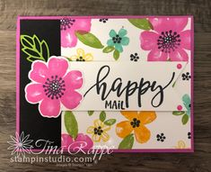 Pretty Perennials One Sheet Wonder Cards - Stampin' Studio One Sheet Wonder, Happy Mail, Perennials, Stampin Up, Birthday Cards, Card Making, About Me Blog, Templates, Studio