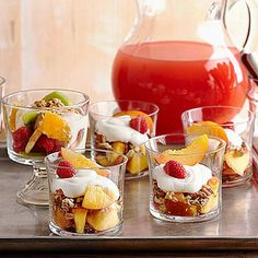 Fruit-Granola Parfaits From Better Homes and Gardens, ideas and improvement projects for your home and garden plus recipes and entertaining ideas.