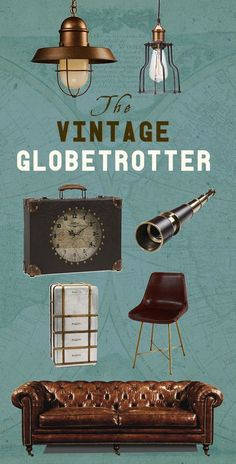 The Vintage Globetrotter: Pack your trunks, grab your compass, and get ready for the vintage-inspired voyage of a lifetime.  Shop Now at dotandbo.com!