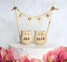 mr mrs bird wedding cake toppers