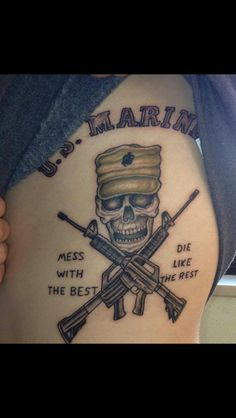 Marine tattoo Marine Tattoo, Military Tattoos, Deathly Hallows Tattoo, Tattos, Triangle, Army Tattoos