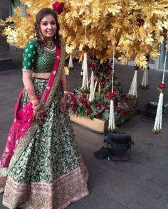 Half Saree Lehenga, Lehenga Gown, Sari, Engagement Dresses, Desi Clothes, Punjabi Wedding, Indian Outfits, Indian Dresses, Asian Fashion
