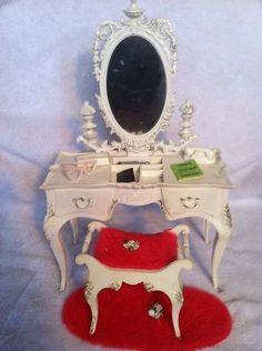 Vintage 60s Barbie Doll Susy Goose Toy Play Set Vanity Mirror Set All ...